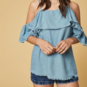 Somedays Lovin Tops Chasing The Sky Over The Shoulder Blouse Z Xs